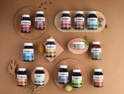 Curegardens wide range of natural herbal supplements